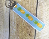 Pineapples Keychain - Wrist Keychain - Wristlet Key Chain - Key Fob - Wristlet Key Fob - Accessories - Key Holder