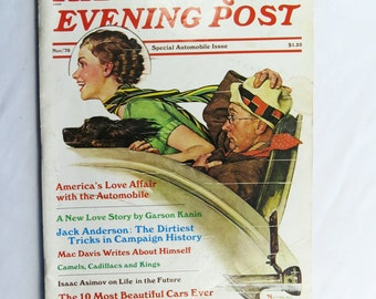 Saturday Evening Post Special Automobile Issue Nov 1976 Rockwell