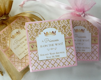 Baby Shower Favors, Baby Girl, Princess theme, soap favors, set of 10