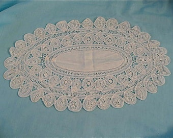 Vintage White Hand Made Doily