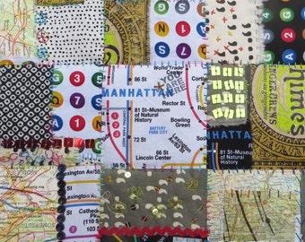 City Blocks: Manhattan ~ an original art quilt