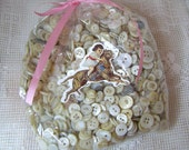 One Pound Bag of Vintage Pearl Sewing Buttons-Small to Medium Sized