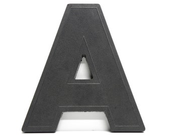A is for AMAZING . black marquee letter . vintage sign letter .  industrial style