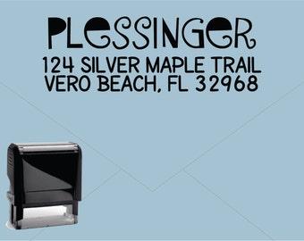New for 2016 FREE US SHIPPING * Self Inking Return Address Stamp * Custom Address Rubber Stamp (E412)