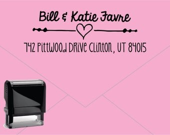 Self Inking Return Address Stamp * Custom Address Rubber Stamp (E417)