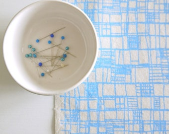 Overlap - screen printed fabric - chalky colours