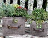 Wood Drawer Box - Set of 2 - Woodland Box - Wood Planter Box - Woodland Planter - Rustic Wedding - Wedding Centerpiece - Card Box