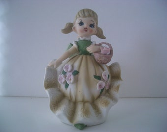 Vintage Porcelain Girl With Ruffled Petticoat