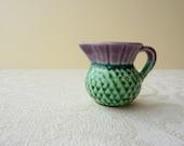 Tiny Thistle Ceramic Jug - miniature flower vase