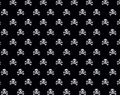 Military Max in Military Skulls Black Cotton Fabric by Bella Blvd. for Riley Bake Designs - 1 Yard