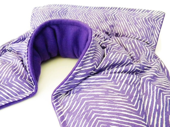 Heating Pad, Rice Heating Pad for Neck Shoulder Back - Microwave Heat Pack, Hot Cold Therapy Pack, purple