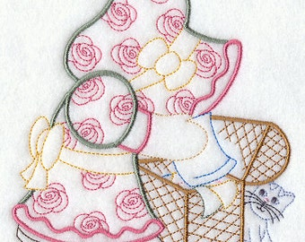 Embroidered Sunbonnet Sue's Fabric Stash