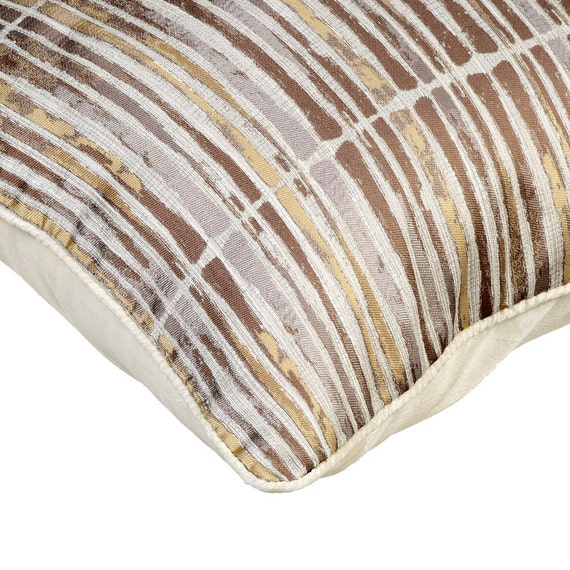 thehomecentric - Gold Stripe Decorative Throw Pillow Cover Couch Pillows Sofa Pillow Bed Pillow ...