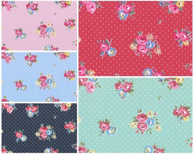 Flower Sugar Maison 2015 Fabric by Lecien - Dotty Floral, half yard bundle