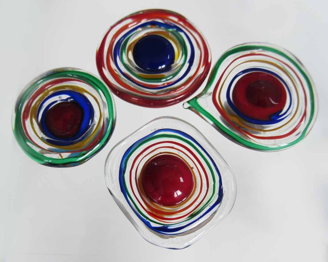 Green Glass Cabinet Knobs And Drawer Pulls: KNOBS 4 Venetian Glass Cabinet Knobs Red Green Blue For