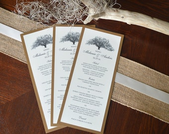 Savannah Candler Oak Wedding Menu