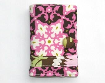 Tea Wallet, Tea Bag Carrier, Tea Bag Holder, Travel Tea Purse, Tea Bag Case Mosaic Rose