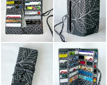 Made to Order Bifold Wallet, Women's wallet 38 Credit Card Organizer, Money Wallet, Choose your fabric!