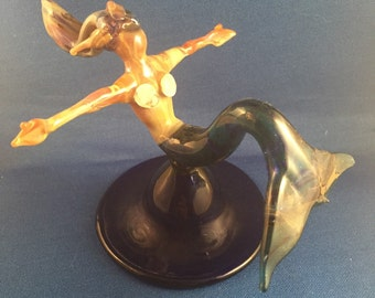 lampwork boro mermaid sculpture