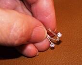 Morganite Gemstone Sterling Leverback Earrings
