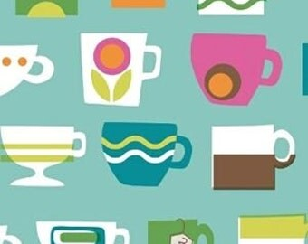 Ampersand Cream and Sugar Tea Cup Fabric