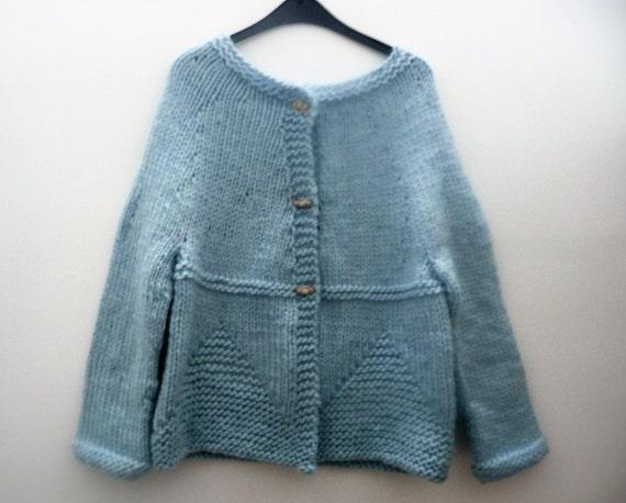 Cardigan Knitting Pattern - Jacket Sweater - Teens Adult ...