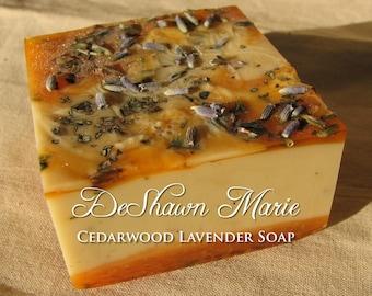 SALE SOAP- Cedarwood Lavender Soap - Vegan Soap - Handmade Soap- Soap Gift