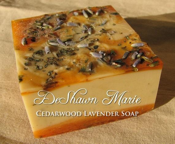 SOAP- Cedarwood Lavender Soap - Vegan Soap - Handmade Soap- Soap Gift