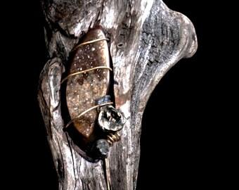 Earth Spirit original driftwood pendant
