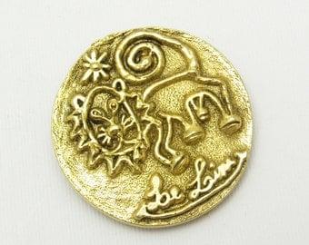Vintage Scarf Clip Leo Lion Zodiac Accessories M7400