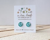 Portland PDX Airport Carpet Illustrated Earrings | Item No. ATL-E-166