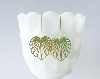 Art Nouveau Leaf Earrings | Style 1 | ATL-E-126