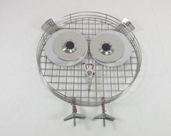Metal owl wall decor hand made cute owl decor