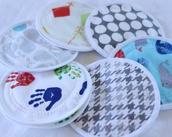 Reusable Nursing  Pads, Washable Cloth Nursing pads, breast pads,  6 pairs