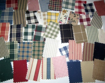 52  Country  Fabric Samples or Swatches