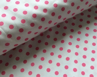 Fabric Finders cotton pique - pink dots on white : 1/2 yard