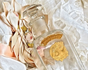 Vintage French Lovely....Houbigant Eu De Toilette Perfume Bottle