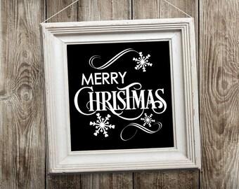 Christmas Decoration Merry Christmas Snowflake Christmas Wall Decal Holiday Sign DIY Christmas Sign Winter Wall Decal snowflake