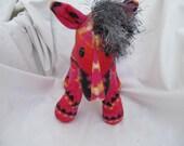 Navajo blanket horse, pink fire, pendleton inspired, stuffed animal, plush, plushie, girl horse, hot pink, pendleton blanket, native indian