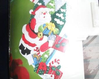 Christmas Santa Felt Stocking Bucilla NOS Kit 86576