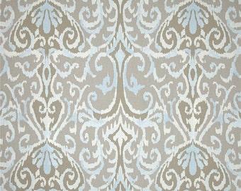 Trendy Ikat Curtain Panels, Blue Grey Curtains, Modern Window Curtains,  Light Gray Custom