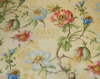 Paris Forever Cotton Fabric by Wilmington Fabrics 86386 Yellow