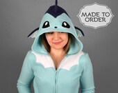 Vaporeon Pokemon Costume Hoodie - Made to Order