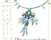 Pendant tutorial / pattern Ulfger pendant with petal beads PDF instruction for personal use only
