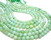 Green Opal Beads, Smooth Round, Green Opal, Green Gemstone, SKU 4819A