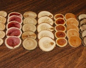 Assorted wood buttons - 35 pc. set