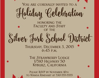 Snowflake Christmas Holiday Party Invitation