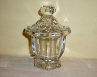 BACCARAT Crystal Harcourt Missouri Glass Jar Mustard Honey Jelly Sugar France French Vintage