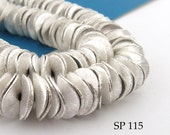 10mm Potato Chip Beads Silver Plated Wavy DIsk Full Strand (SP 115) 75 pcs BlueEchoBeads