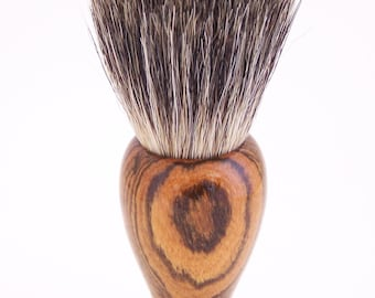 Bocote Wood 24mm Black Badger Hair Shaving Brush Handle (Handmade in USA) B5 - Wood Brush - Badger Brush - Shaving Brush - Shaving Kit